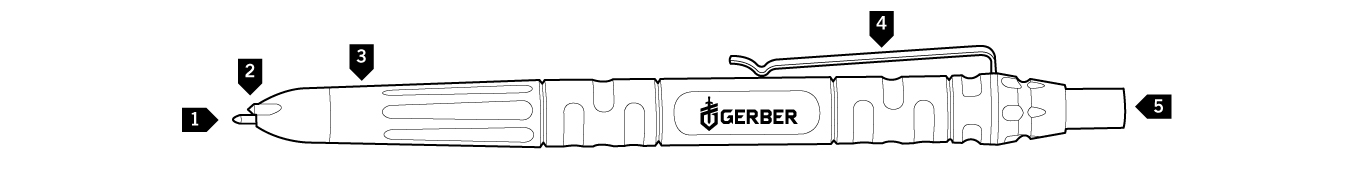 Gerber Impromptu Tactical Pen - Black
