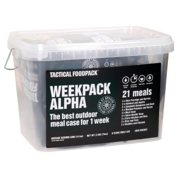 Set 21x Survival MRE dehydrovaného jídla - Weekpack Alpha, Tactical Foodpack