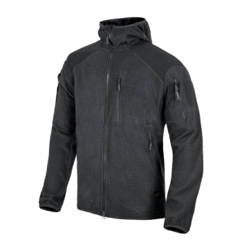 Alpha Hoodie Jacket - Grid Fleece, Helikon, Helikon