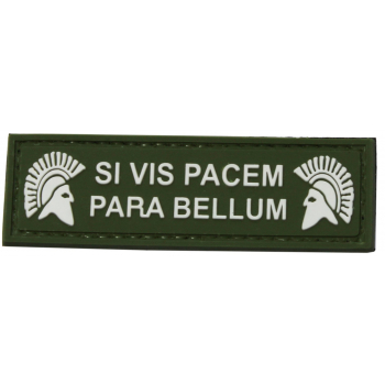 PVC nášivka SI VIS PACEM PARA BELLUM, Spartan