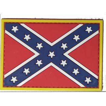 PVC nášivka - konfederační vlajka, ARMED PATCHES
