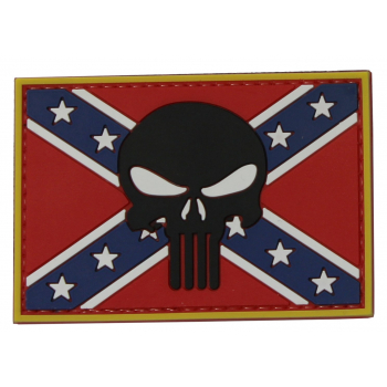 PVC patch - Punisher on the Confederate flag