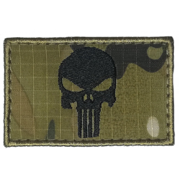 Vyšívaná nášivka Punisher, multicam, ARMED PATCHES