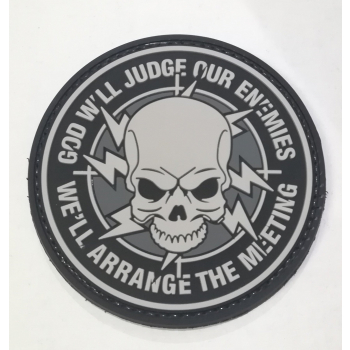 "PVC patch ""God will judge our enemies"""