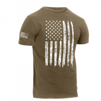 Distressed US Flag Athletic Fit T-Shirt, Rothco