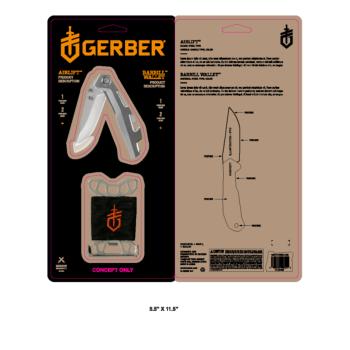 Gerber set Airlift Silver + Wallet Silver