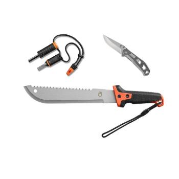 Sada Gerber Overcome, mačeta, nůž, podpalovač