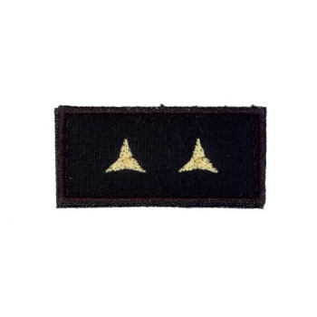Hodnostní nášivka na čepici Poručík, černý podklad