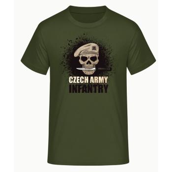 Pánské triko Czech Infantry, zelené, Forces Design