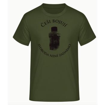 Pánské triko Češi bojují, zelené, Forces Design