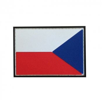 PVC nášivka Česká republika, reverzní vlajka