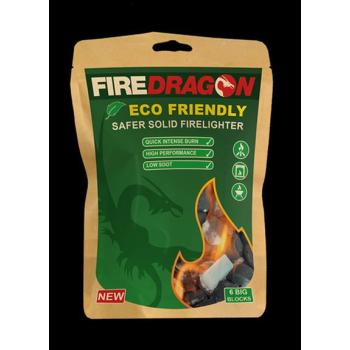 Ecological solid FireDragon lighter, 6 pcs, BCB