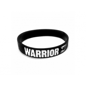 Silicone Wrist Band, Black, Warrior