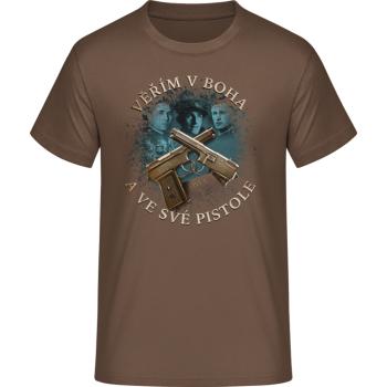 Pánské triko Tři králové, hnědé, Forces Design