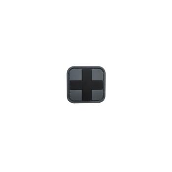 PVC nášivka - MEDIC, černá/šedá