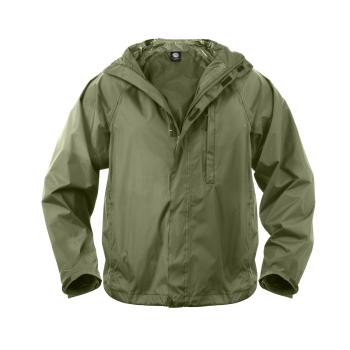 Nepromokavá sbalitelná bunda, olivová, M, Rothco