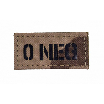 "IR patch ""0 NEG"", arid"