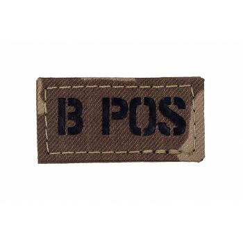 Rozlišovací IR znak AČR - krevní skupina B POS, vz. 95 pouštní