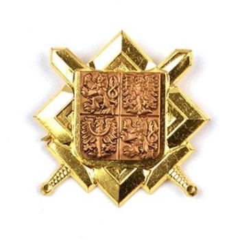 Odznak AČR - znak + meče, zlatý