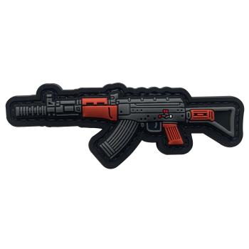 3D PVC velcro patch with AK 47 weapon motif