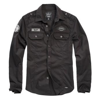 Košile Luis Vintageshirt, černá, Brandit