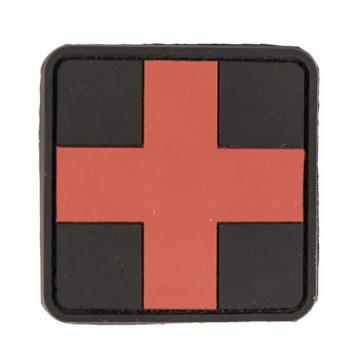 PVC applique - medical cross, red-black, 5x5 cm, Mil-Tec