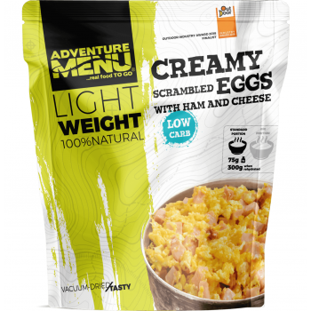 Vacuum Dried Creamy Scrambled Eggs w/ Ham & Cheese - Lightweight, Adventure Menu