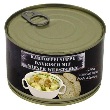 Vojenská konzerva - Bramborová polévka s vídeňskou klobásou, 400 g, MFH