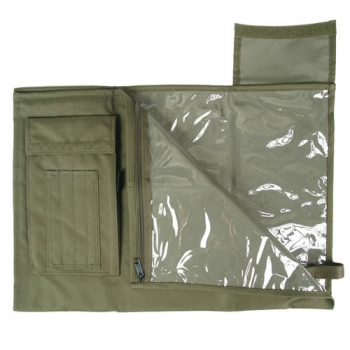 Folding case for BW map, olive, Mil-Tec