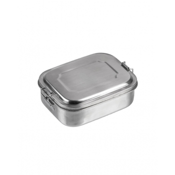 Stainless Steel Lunch Box, 16 x 13 x 6,2 cm, Mil-Tec