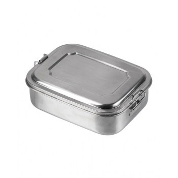 Stainless Steel Lunch Box, 18 x 14 x 6,5 cm, Mil-Tec