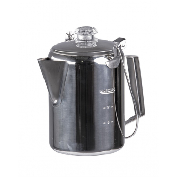 Stainless steel kettle with percolator for 9 cups, Mil-Tec