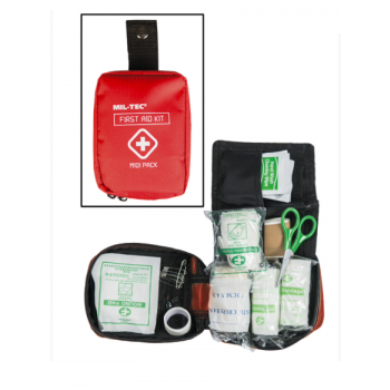 Midi First Aid Pack, Red, Mil-Tec