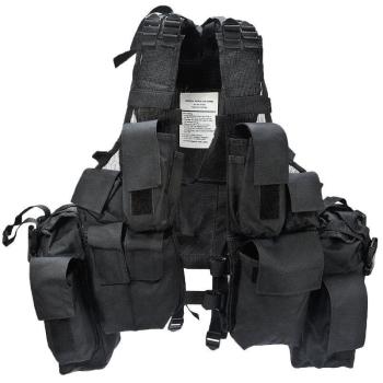Tactical Vest, 12 pockets, Black, Mil-Tec