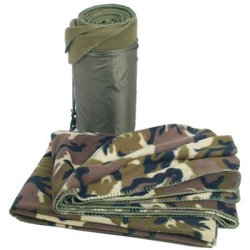 Woodland Fleece Blanket, Mil-Tec