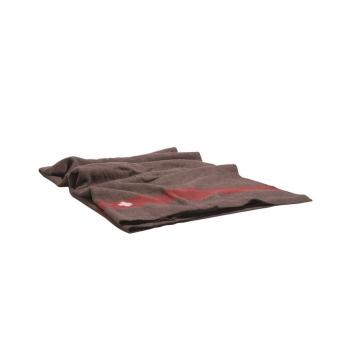 Swiss Blanket, 100% Sheep Wool, Brown