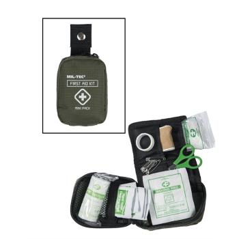 Malá lékarnička první pomoci, olivová, Mil-Tec