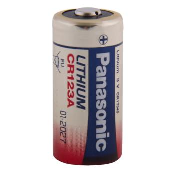 Non-rechargeable lithium battery CR123A, 1 pc, Blistr, Panasonic