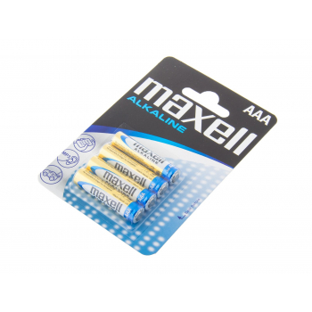 Non-rechargeable alkaline AAA batteries, 4 pcs Blister, Maxell