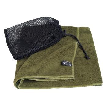 Cestovní ručník z mikrovlákna, olivový, Mil-Tec