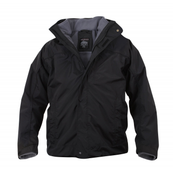 All Weather 3-In-1 Jacket, Black, Rothco