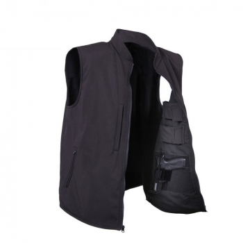Concealed Carry Soft Shell Vest, Black, Rothco