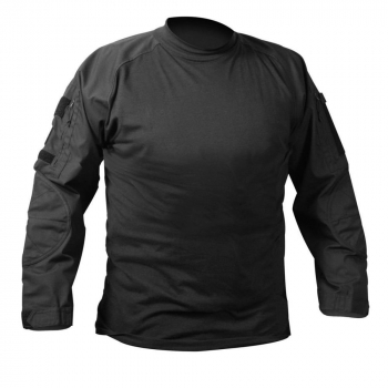 Military NYCO FR Fire Retardant Combat Shirt, Black, Rothco
