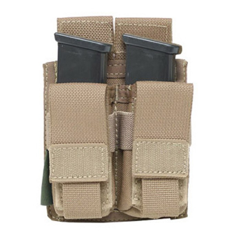 Direct Action Double DA 9mm Pistol Pouch, Warrior
