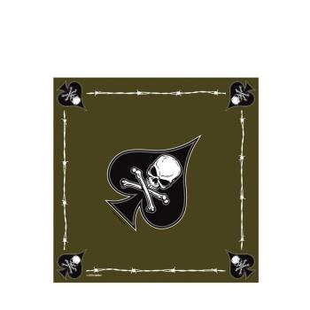 Šátek Bandana Death Spade, zelený, Rothco