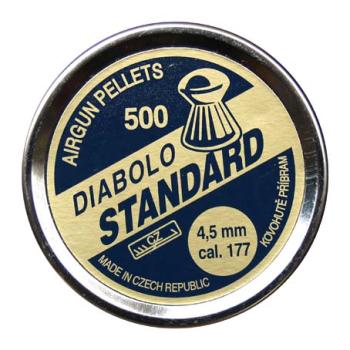 Diabolo Standard, ráže 4,5 mm (.177), 500 ks, Kovohutě Příbram