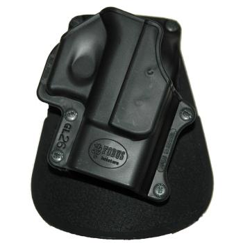 Left holster for Glock 26 pistol, rotary paddle, Fobus