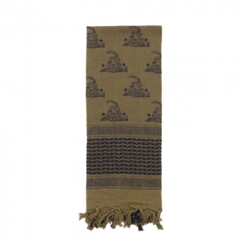 Gadsden Snake Shemagh Tactical Desert Scarf, Olive Drab, Rothco