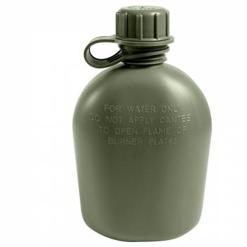 Plastic Canteen Genuine G.I. Army, 1 L, Olive, Rothco