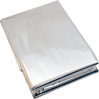 Hypothermia space blanket, silver, BCB